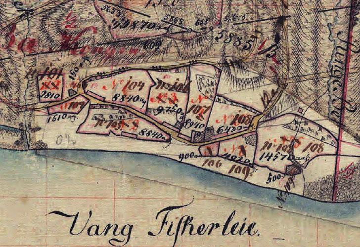 1824-1854 Udsnit Vang Fiskerleje