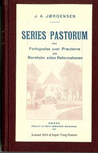 1907 Series pastorum JA Joergensen forside