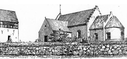 Klemensker kirke før 1874 (fra Danmarks Kirker, Bornholms Amt, side 279)