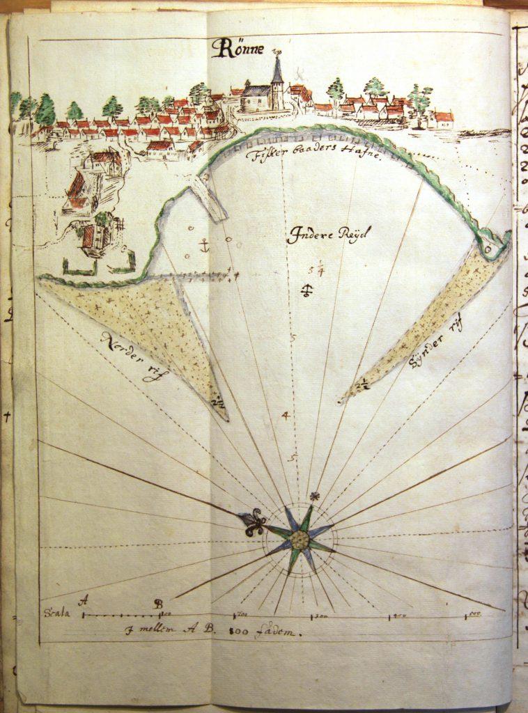 Kort over Rønne