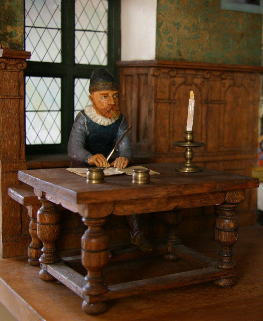 Model af Tycho Brahe på Uranienborg på Hven, 1600.