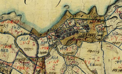 Matrikelkort 1826-1860 over Tejn