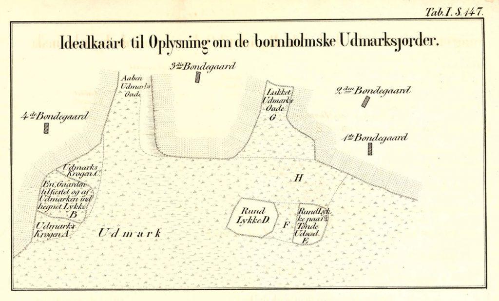 Idealkaart til Oplysning om de bornholmske Udmarksjorder