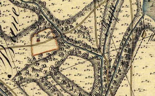 Skovhuset på Hammers kort 1750